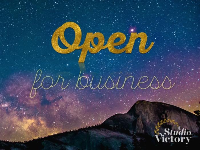 open for business IGR